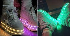 Topshop, le scarpe Led Buffalo della collezione 2014 Ashish hanno conquistato Katy Perry