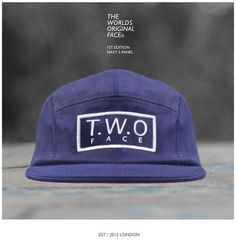 The Worlds Original Face  TWO Face London1st Edition Navy 5 Panel CapCotton Twill and Navy Leather Strapbacksupreme quality only perfect condition