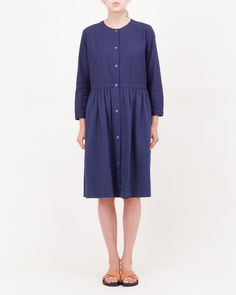 Shirt Duck Baby Loose Old Selvedge Ox Farmer's Dress in Navy