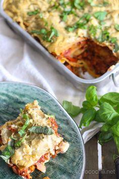 Vegan and gluten free lasagna.