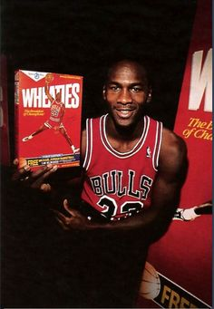 "Remember this cereal ad !  Mj  probaly singing when he beat the other teams ""players ,to bad ,you should have had your wheaties so sad, you should've stayed in bed """