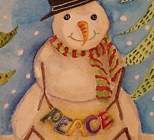 PEACE SNOW MAN by CCritters