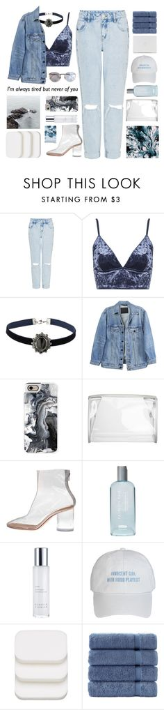 """""""Untitled #2607"""" by tacoxcat ❤ liked on Polyvore featuring Topshop, Y/Project, Casetify, Maison Margiela, Fashion Fair, Kerstin Florian, COVERGIRL and Postalco"""