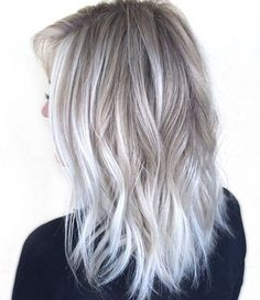 Winter White Hair Color Ideas 2017 for Medium Length Hairstyles 2017