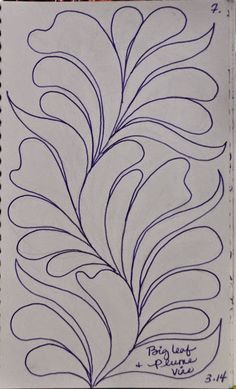LuAnn Kessi Quilt Designsfrom My Sketch Book Quilting Stencils, Quilting Templates, Longarm Quilting, Free Motion Quilting, Quilting Tutorials, Hand Quilting, Quilting Projects, Quilting Ideas, Machine Quilting Patterns
