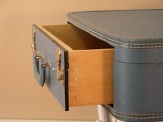 Suitcase Table with Drawer