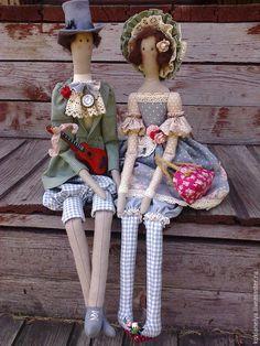 Купить Кукла тильда ручной работы.Двое и гитара. - разноцветный, свадебный подарок, подарок на свадьбу