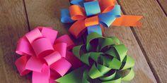Tutorial / DIY: como fazer laços de papel para presentes