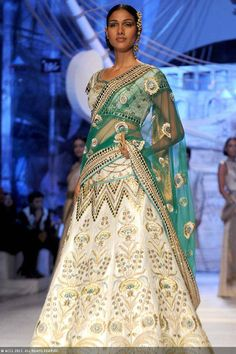 July 23, 13: Nethra Raghuraman for JJ Valaya http://www.valaya.com/ on Day 1 of Aamby Valley India Bridal Fashion Week, New Delhi