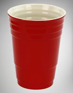 Red Cup 32 Oz Ceramic Cup