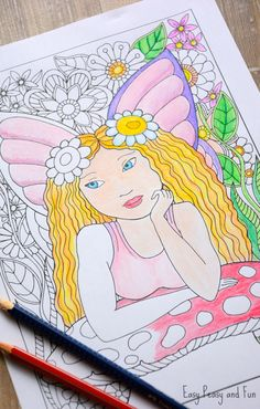 Little Fairy Coloring Page - Easy Peasy and Fun