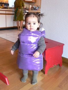 "How to Make a Monster's Inc. ""Boo"" Costume - http://www.tinyironfists.com/2010/11/howtomakeamonstersincboocostume.html"