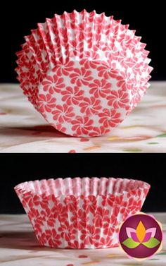 Pinwheel Baking Cups - Red