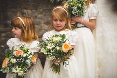 Little Bevan Bridesmaids dresses  Photography – S6 Photography Bride's dress + veil- The dress is Dabra of Enzoani Blue from Emily Bridal Sheffield Florist - Swallows & Damsons