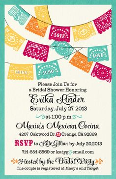 Fiesta Bridal Shower Invitation Printable Succulent Bridal Shower ...