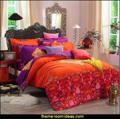 Boho Style Bedding Set - Boho Duvet Cover Set - Bohemian Bedding Set