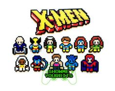 The Justice League Perler Sprites by ShowMeYourBits on Etsy