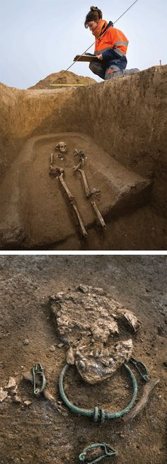 A necropolis discovered in France is shedding light on the La Tene Culture - enigmatic warriors who once dominated most of Iron Age Europe.  15 richly adorned graves date to the 4th century BC.  The Celtic culture developed north of the Alps in the first millenium BC.  From there, they spread from Romania to Britain.