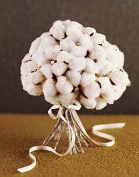 Cream cotton bouquets for table centerpieces
