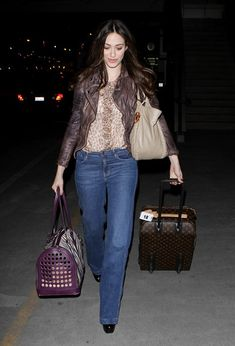 Emmy Rossum Leather Jacket