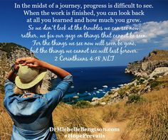 In the midst of a journey, progress is difficult to see. When the work is finished, you can look back at all you learned and how much you grew.   #mentalhealth
