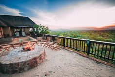 A boma in Limpopo with a breathtaking view  #boma #braai #view #limpopo