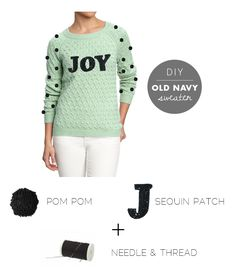 Diy how to make tutorial HOLIDAY SWEATER DIY WITH OLD NAVY