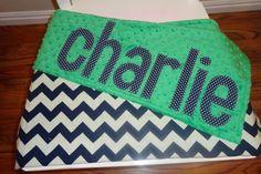 Custom minky name blanket 30x36 inches - personalized baby blanket