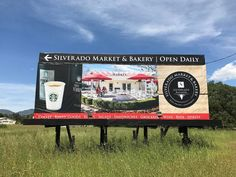 Three images on the billboard for Silverado Resort.