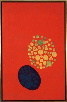 "Jules Olitski (1922 – 2007), Shaker, 1961, Magna acrylic on canvas, 25"" x 16"".  Private Collection."