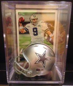 b903bb525 Dallas Cowboys NFL Helmet Shadowbox w/ Tony Romo card NFL mini helmet  shadowbox Limited Edition