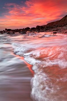 Sunset in Bodega Bay, California via Jared Ropelato