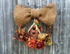 Fall Door Wreath Front door decor Home Decor Office Decor #autumndecor #oneofthekindwreaths #luxurywreath #fallwreath #thanksgivingwreaths