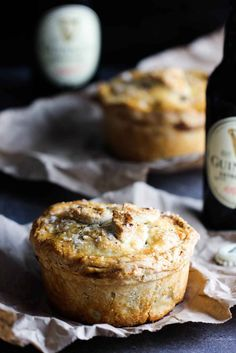 This Pub-Style Guinness Beef Pie recipe is one of the most amazing Irish dishes. Homemade flakey crust with amazing stew inside. Irish Recipes, Meat Recipes, Whole Food Recipes, Cooking Recipes, Mini Pie Recipes, English Recipes, Beef Pies, Pub Food, Meat Food