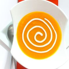 Cream of carrot soup with sour cream