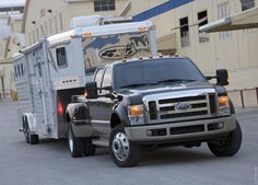 Ford F 450 Super Duty . with a horse trailer exactly the set up I want. Dually Trucks, Farm Trucks, Diesel Trucks, Horse Transport, F350 Super Duty, Pole Bending, Future Trucks, Horse Trailers, Barrel Racing