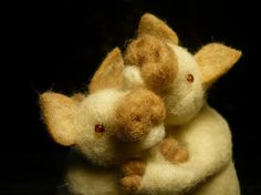Pigs In Love Needle Felted OOAK Adoreable by stoneturtle on Etsy, $129.00