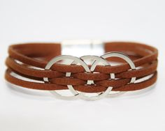 Womens Leather Bracelet Womens Bracelet Womens Gift for her Womens Jewelry Multi Strand Braceletleather bracelets for women (18.00 USD) by DesignedbySeda