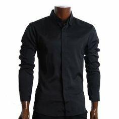 Shop FLATSEVEN Mens Slim Fit Designer Dress Shirts Round Collar Button Down Black, XL. Slim Man, Round Collar, Dress Shirts, Designer Dresses, Button, Fitness, Jackets, How To Wear, Men