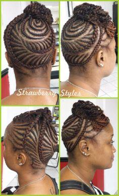 Intricate Fishbone Braiding Cornrowing Cute Styles For