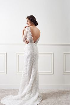 Enid Lavender lace wedding gown from By Malina 2016 Wedding Collection