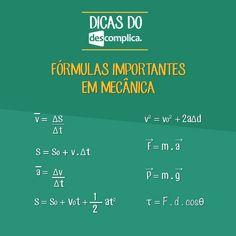 Para guardar: fórmulas em Mecânica. Clique na imagem para assistir à aula em vídeo sobre o assunto.