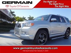 Explore The New 2013 Toyota 4Runner At Germain Toyota Of Sarasota. #Toyota
