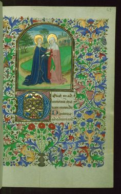 """Book of Hours, W.220, by """"Circle of Willem Vrelant"""", Bruges, Belgium ca. 1450-1455, via Walters Art Museum, Creative Commons"""