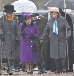 Bouncing back: The Queen chatted happily as she made her way to church this morning...