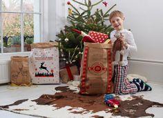 Christmas Sacks. Pair of Kraft Paper Christmas by BetsyBennLtd
