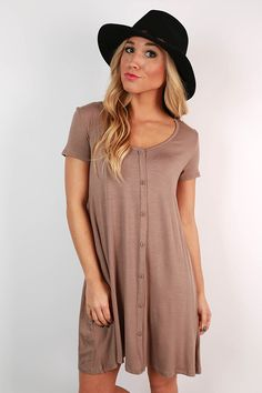 Grab this shift dress and pair it with boots and tights for a casual look that's super cute!