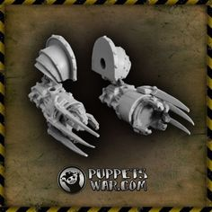When one just have to hug someone not really liked... ... we can help.  Walker Close Combat Claws (Pair)  https://puppetswar.eu/product.php?id_product=72
