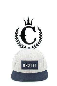 fd5ac7bc02f Brixton Rift Snapback Heather Grey navy - Culture Kings