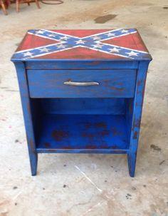 Confederate flag table